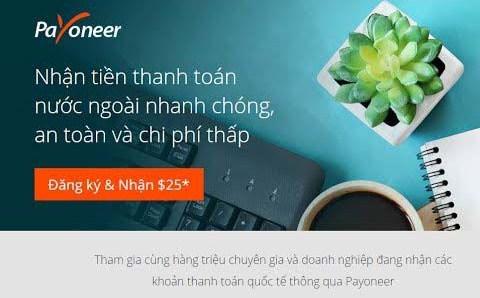 dang ky payoneer 1 - Đăng ký ví điện tử Payoneer nhận 25$ khuyến mãi ngay lập tức
