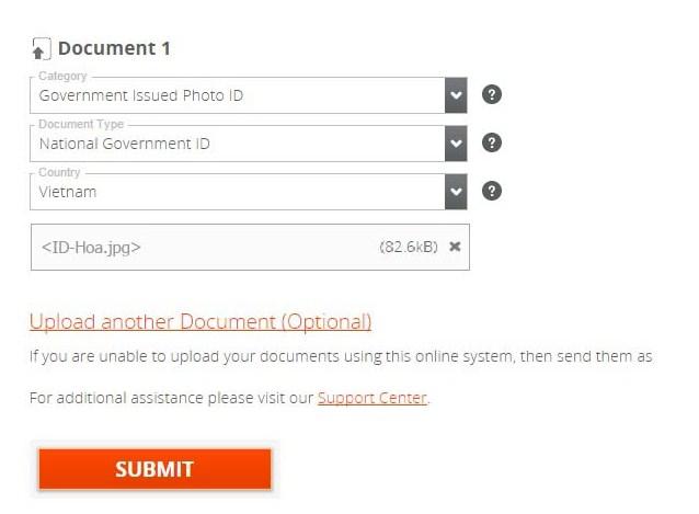 dang ky payoneer 10 - Đăng ký ví điện tử Payoneer nhận 25$ khuyến mãi ngay lập tức