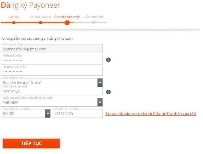 dang ky payoneer 4 - Đăng ký ví điện tử Payoneer nhận 25$ khuyến mãi ngay lập tức