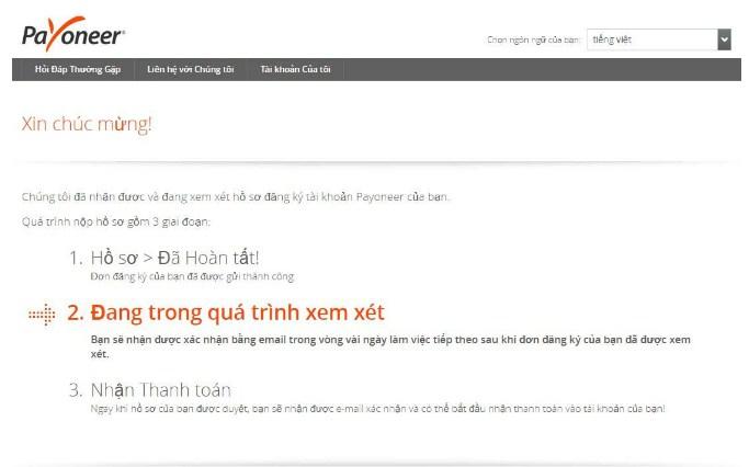 dang ky payoneer 6 - Đăng ký ví điện tử Payoneer nhận 25$ khuyến mãi ngay lập tức