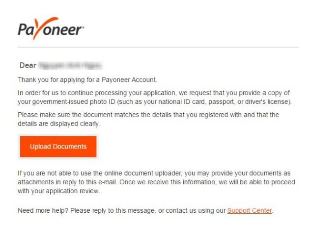 dang ky payoneer 9 - Đăng ký ví điện tử Payoneer nhận 25$ khuyến mãi ngay lập tức