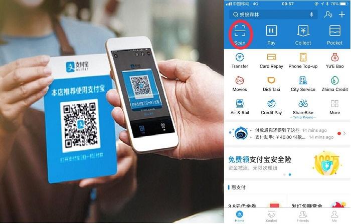 Alipay dùng để làm gì? Hướng dẫn nạp tiền vào ví Alipay 1