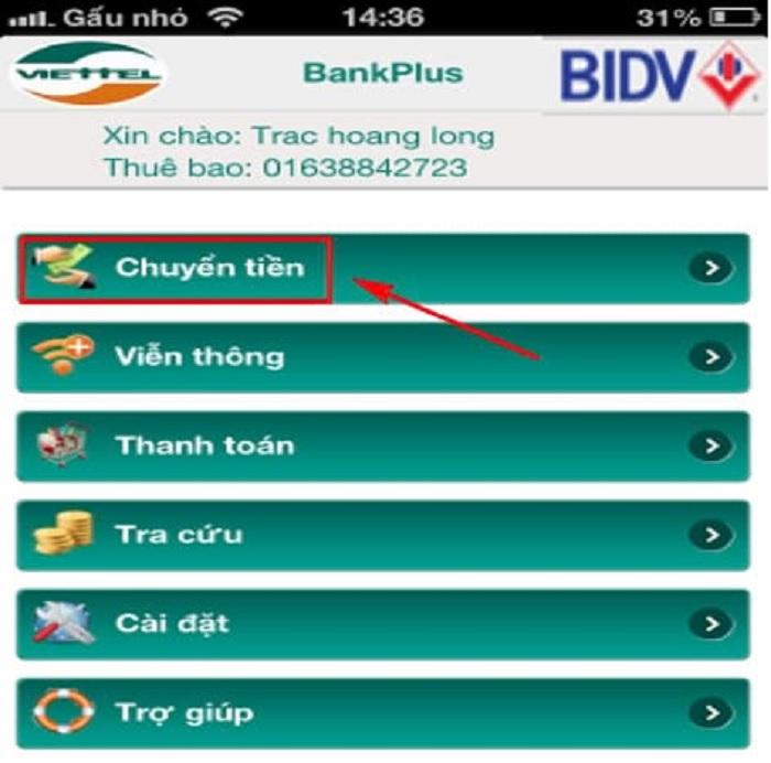Hướng dẫn đăng ký dịch vụ Bankplus tại Ngân hàng địa phương 1