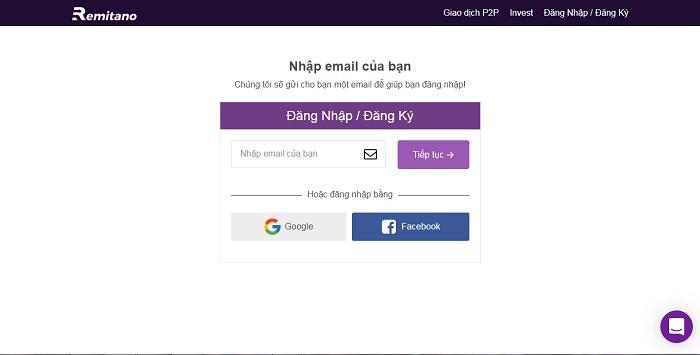 dang ky tai khoan remitano 1 - Hướng dẫn cách đăng ký và mua bán coin trên sàn Remitano