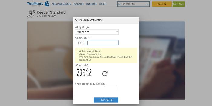 Hướng dẫn đăng ký, xác minh, tạo ví điện tử WebMoney 2