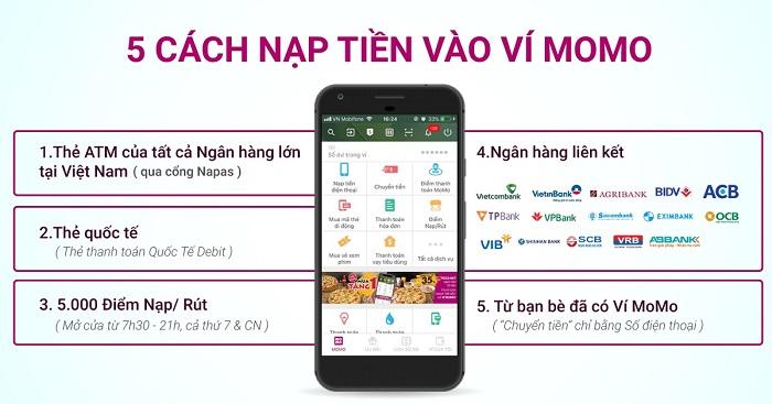 nap tien momo - Hướng dẫn nạp tiền Momo với 5 cách đơn giản nhất