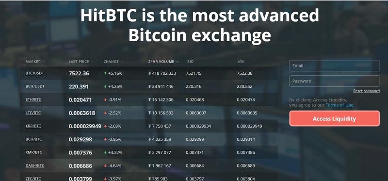 hitbtc 3 - HitBTC – sàn giao dịch tiền điện tử phổ biến và uy tín tại Châu Âu