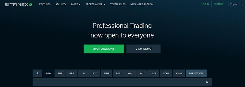 san bitfine 1 - Bitfinex – sàn giao dịch Bitcoin lớn nhất toàn cầu