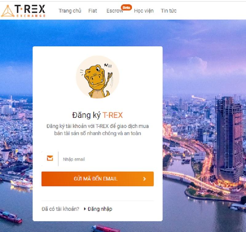 dang ky t rex - T-Rex – sàn giao dịch tiền điện tử an toàn và nhanh chóng được nhiều người yêu thích