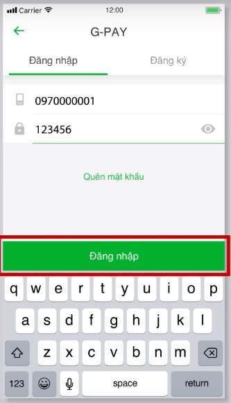 Đăng nhập bằng số điện thoại
