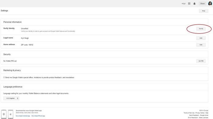 verify - Hướng dẫn cách sử dụng ví điện tử Google Wallet từ A đến Z